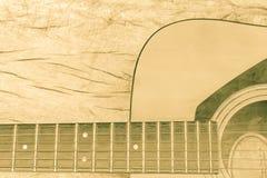 Chitarra classica nel tono d'annata su legno Immagine Stock Libera da Diritti