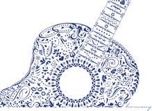 Chitarra con armonia Fotografie Stock Libere da Diritti