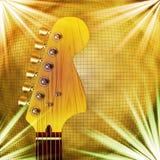 Chitarra con priorità bassa Fotografia Stock Libera da Diritti
