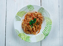 Chitarra del alla de los espaguetis Imagen de archivo