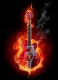 Chitarra del fuoco Fotografia Stock