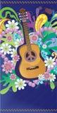 Chitarra del Hippie Immagini Stock Libere da Diritti