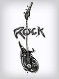 Chitarra della roccia Fotografia Stock