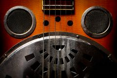 Chitarra di chitarra resofonica Immagine Stock