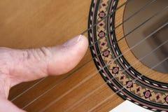 Chitarra di flamenco Fotografia Stock