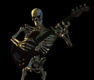 Chitarra di gioco di scheletro Immagini Stock Libere da Diritti
