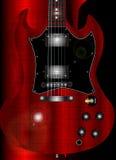 Chitarra di Grunge Fotografie Stock Libere da Diritti