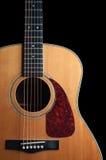 Chitarra di legno Fotografia Stock