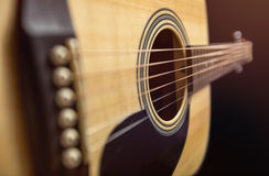 Chitarra di legno acustica Immagini Stock