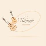 Chitarra di logo Fotografia Stock