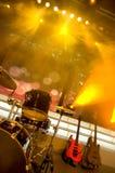Chitarra e tamburi Immagine Stock Libera da Diritti