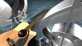 Chitarra e tasti Immagine Stock