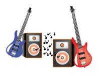 Chitarra ed altoparlante Fotografia Stock Libera da Diritti