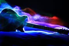 Pittura astratta di Ligt della chitarra Fotografie Stock Libere da Diritti