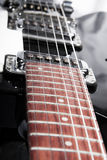 Chitarra elettrica bianca Fotografia Stock
