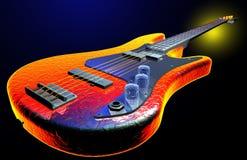 Chitarra elettrica calda Immagini Stock