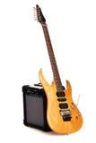 Chitarra elettrica con l'amplificatore Fotografia Stock