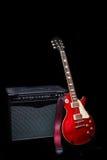 Chitarra elettrica e combos Fotografia Stock