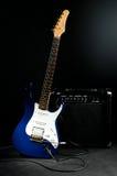 Chitarra elettrica ed amplificatore combinato Fotografia Stock