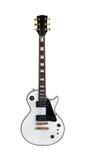 Chitarra elettrica la forma classica Les Paul su fondo bianco Fotografia Stock Libera da Diritti
