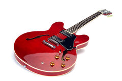 Chitarra elettrica rossa Fotografia Stock