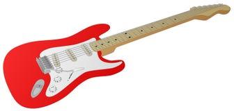 Chitarra elettrica (rossa) Fotografia Stock