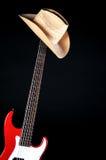 Chitarra elettrica rossa Immagine Stock