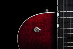 Chitarra elettrica rossa americana Fotografie Stock Libere da Diritti