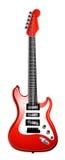 Chitarra elettrica rossa classica Fotografia Stock