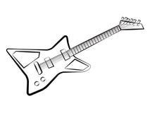 Chitarra moderna royalty illustrazione gratis