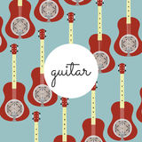 Chitarra piega di risonanza dello strumento della corda su un fondo colorato Fotografia Stock