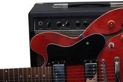 Chitarra rossa fotografia stock