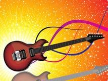 Chitarra rossa lucida variopinta astratta Immagine Stock Libera da Diritti