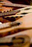 Chitarra rustica acustica Fotografia Stock Libera da Diritti
