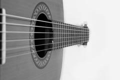 Chitarra spagnola classica Foto in bianco e nero di Pechino, Cina Immagine Stock Libera da Diritti