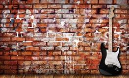 Chitarra su grunge Immagine Stock Libera da Diritti