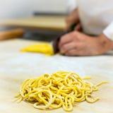 Chitarra van spaghettialla Stock Afbeeldingen