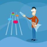 Chitarra virtuale del gioco di vetro di Digital di usura di uomo royalty illustrazione gratis