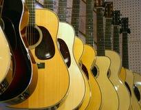 Chitarre classiche da vendere Fotografia Stock