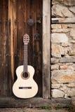 Chitarre dell'annata Fotografia Stock