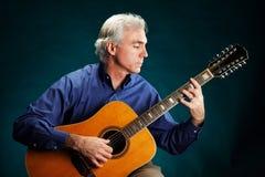 chitarrista 12-String fotografie stock