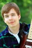 Chitarrista Fotografia Stock Libera da Diritti