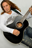 Chitarrista della roccia Immagini Stock Libere da Diritti