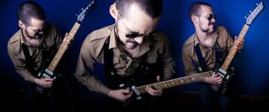 Chitarrista della roccia Immagine Stock Libera da Diritti