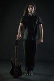 Chitarrista di metalli pesanti Fotografia Stock