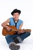Chitarrista divertente Immagini Stock Libere da Diritti