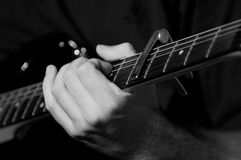 Chitarrista elettrico Fotografia Stock Libera da Diritti