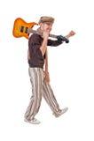 Chitarrista freddo fotografie stock libere da diritti