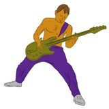 Chitarrista, illustrazione di vettore Fotografie Stock Libere da Diritti