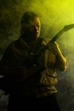 Chitarrista su una scena Fotografia Stock